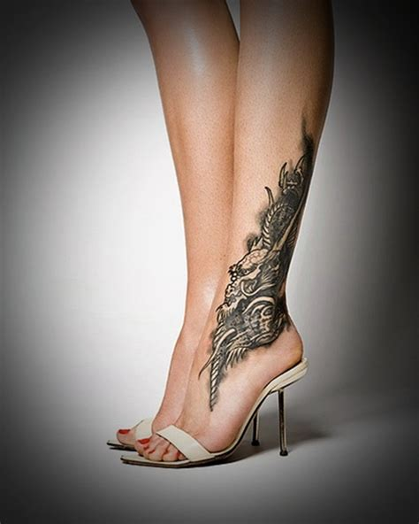 hot girl tattoo designs leg tattoos for