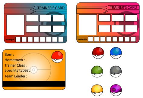 how to make trainer card trainer card m f and r by giovannimicarelli on