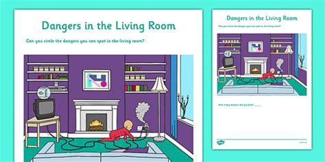 safety in the living room dangers in the living room activity sheet cfe early level