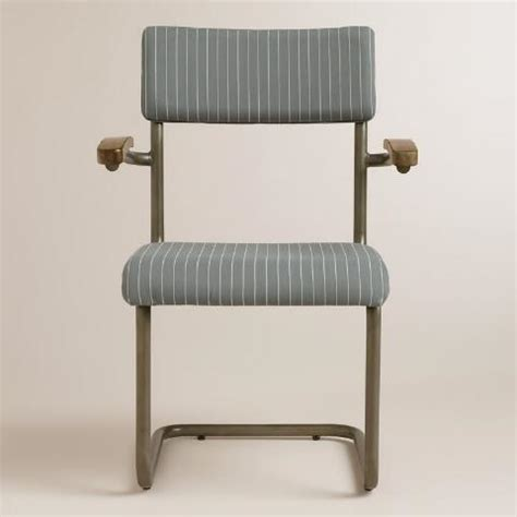 Gray And White Striped Chair Gray Striped Chair Set Of 2 World Market