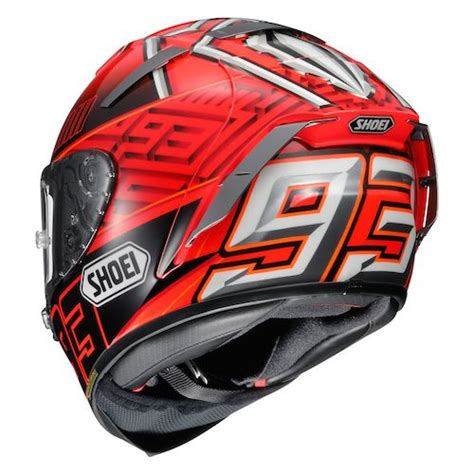 Helmet Shoei Hitam Shoei X 14 Marquez 4 Helmet Revzilla