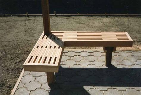 corner deck bench corner bench with ribbed slats and mitered 90 degree