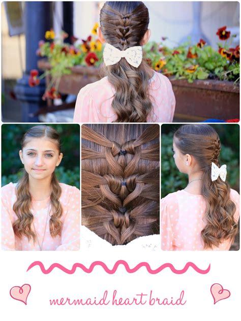 cute girl hairstyles valentines mermaid heart braid cute valentine s day hairstyles