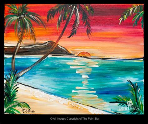 paint with a twist hawaii waikiki hawaii painting jackie schon the paint