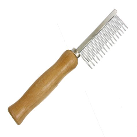 Grooming Comb by Grooming Comb Rake Brush Wooden Handle