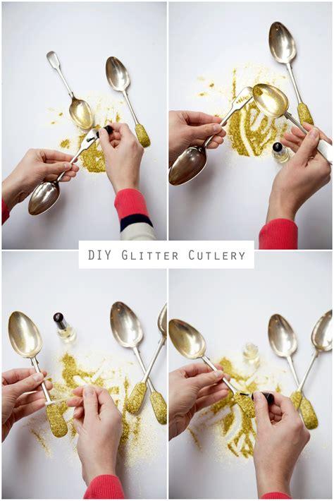 diy mean diy glitter cutlery capture by lucy