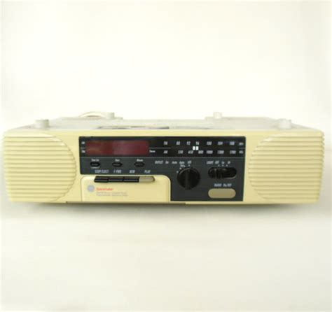 ge spacemaker cassette clock radio cabinet 7 4285a