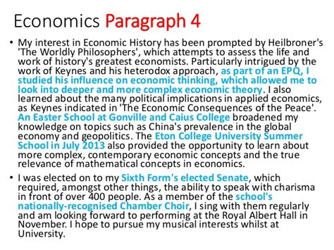 writing a great ucas economics personal statement