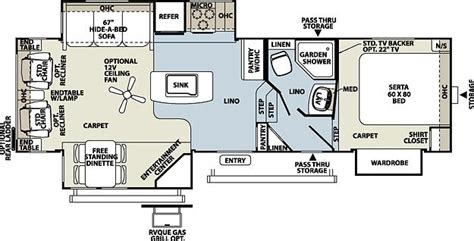 flagstaff fifth wheel floor plans 2013 forest river flagstaff 8528ikws fifth wheel