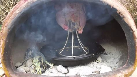 food using a chiminea