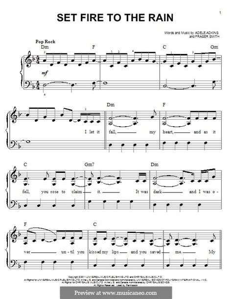 tutorial piano set fire to the rain set fire to the rain by adele f t smith sheet music on