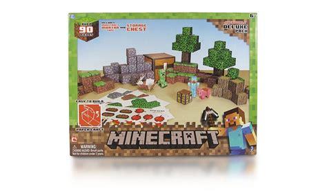 Minecraft Papercraft Deluxe - minecraft papercraft overworld deluxe pack