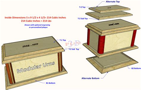 modular urn setting  standard  woodworking plans