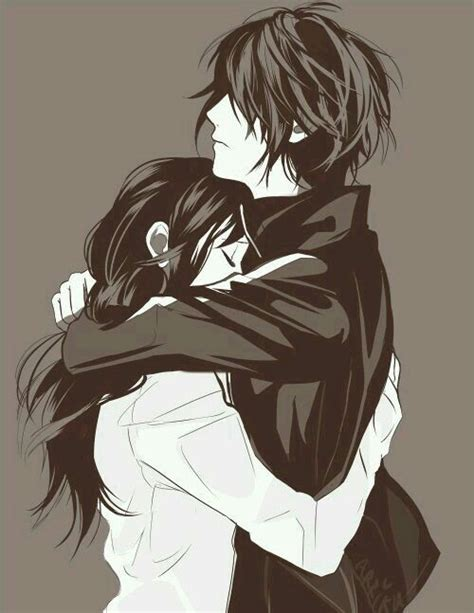 Anime Hug by 1000 Ideas About Anime Couples Hugging On
