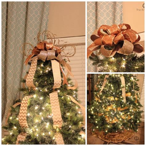 christmas tree decorating video tutorial with bow topper