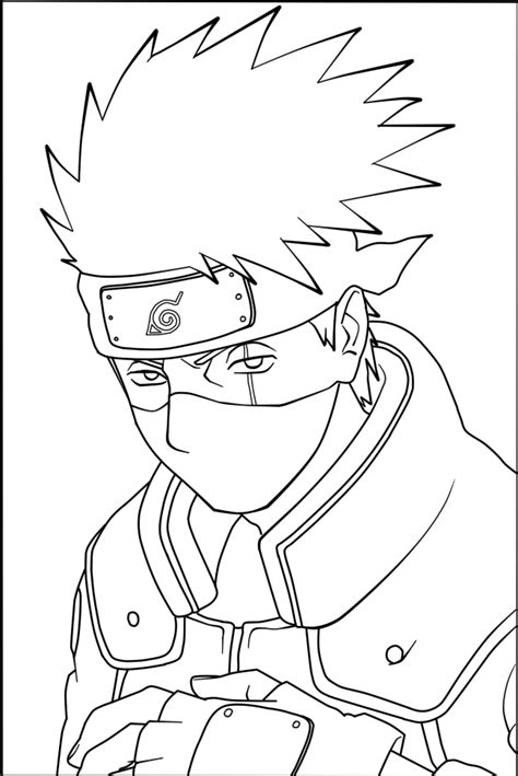the gallery for gt kakashi coloring pages