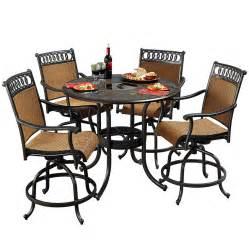 aluminum patio dining sets shop sunjoy 5 aluminum patio dining set at lowes
