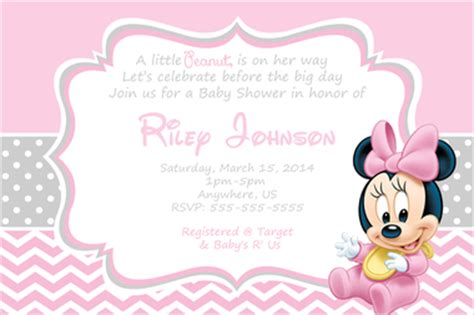 minnie mouse baby shower invitation template baby minnie mouse baby shower invitations