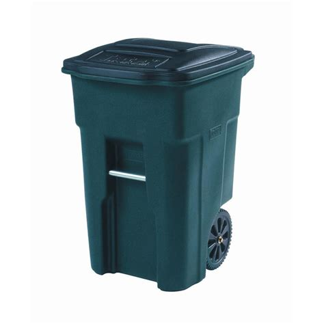 backyard garbage cans shop toter 48 gallon greenstone indoor outdoor garbage can