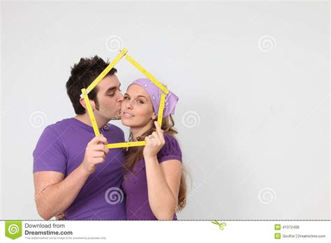 new house loan affectionate couple getting mortgage loan for new house concept stock photo image