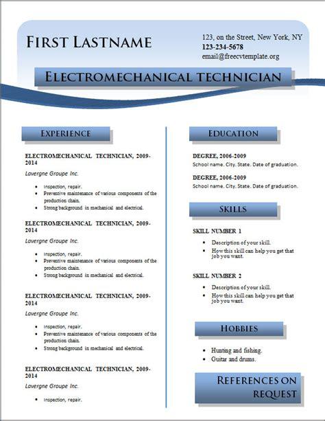 cv format download 2014 free resume word free cv template dot org