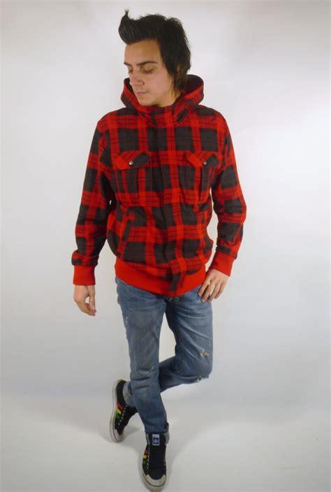 lumberjack style mens topman lumberjack style hoody jacket top vtg l ebay