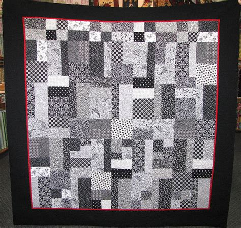 Black And White Patchwork Quilt - nero bianco black white patchwork quilt