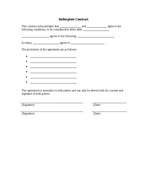 free boilerplate forms boiler boilerplate agreement
