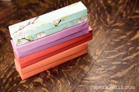 origami pencil box origami pencil box tutorial 02