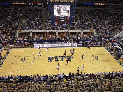 pitt student section pittsburgh s petersen events center one of four bids to