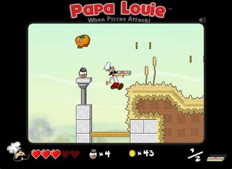 papa louie  pizzas attack game funnygamesus