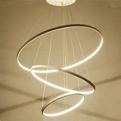 lustres design vonn lighting tania trio 32 inches led adjustable hanging light modern circular chandelier