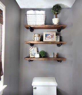 shelves above toilet foter
