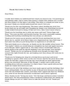 Example Thank You Letter Mom sample thank you letter to mom 5 examples in word pdf