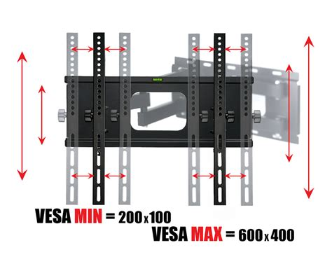 Tv Bracket 1 5mm Thick 400 X 400 Pitch For 26 55 Inch Tv articulating motion swivel tv wall mount vesa 600 x 400 mm max adjustments led lcd flat