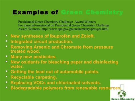intro  green chemistry