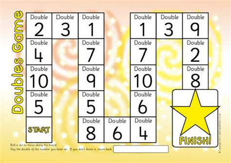printable board games eyfs doubles doubling board game the one for teaching