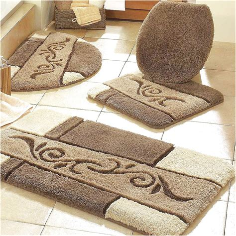 brown bathroom rug sets bathroom decoration