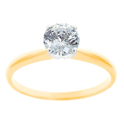 new york city district 14k two tone gold 1 3 ct