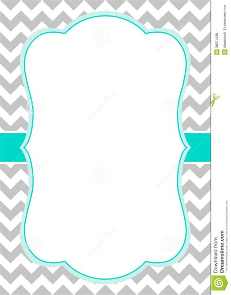 baby shower borders clip free chevron border templateadmin admin baby shower