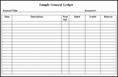 account ledger template general ledger template word excel templates