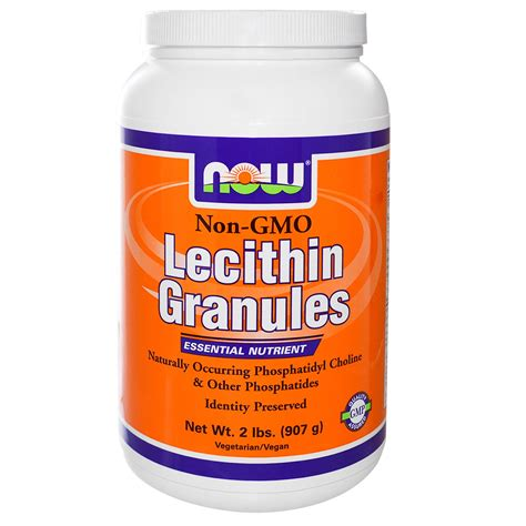 supplement lecithin now foods lecithin granules 2 lbs 907 g iherb
