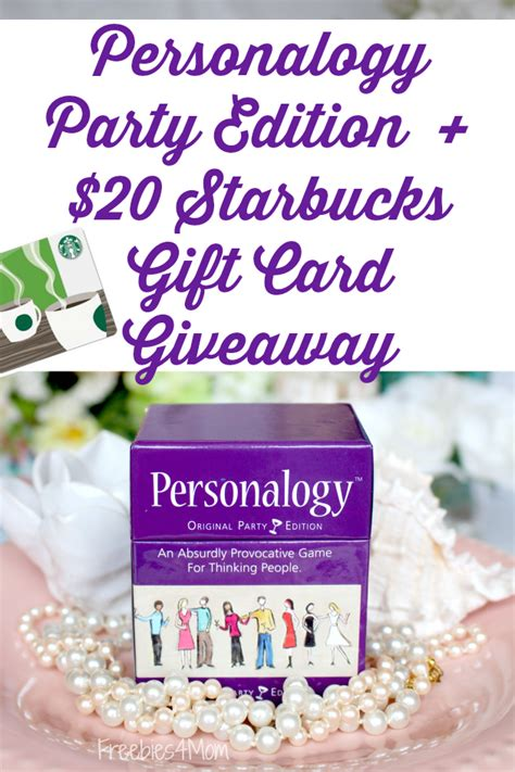 Starbucks Gift Card 20 - personalogy party edition 20 starbucks gift card giveaway