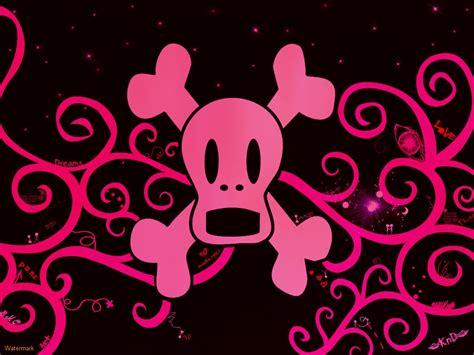 wallpaper gothic pink papel de parede caveira rosa emo wallpaper para download