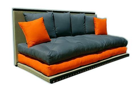 sofabett futon futon tatami sofabett inkl futon und 6 kissen
