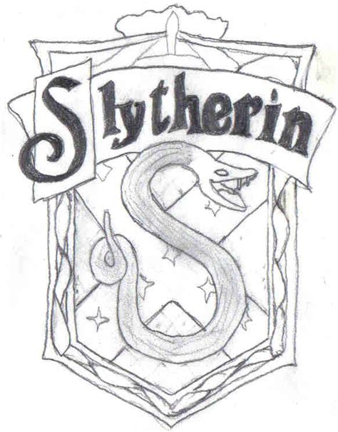 harry potter coloring pages slytherin how to draw slytherin crest