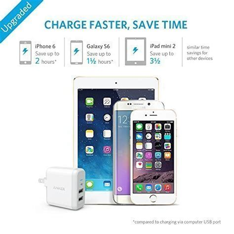 anker wall charger powerport 2 anker 24w dual usb wall charger powerport 2 with foldable