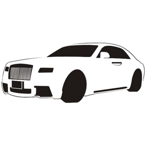 cartoon rolls royce luxury car sketch rolls royce vector free download