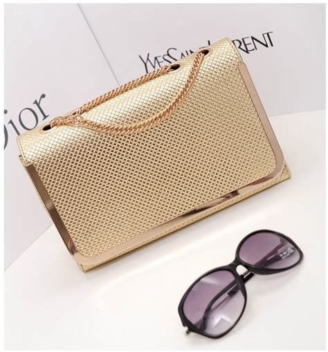 Tas Import Fashion S0248 Gold jual tas fashion import korea tas pesta import tas import
