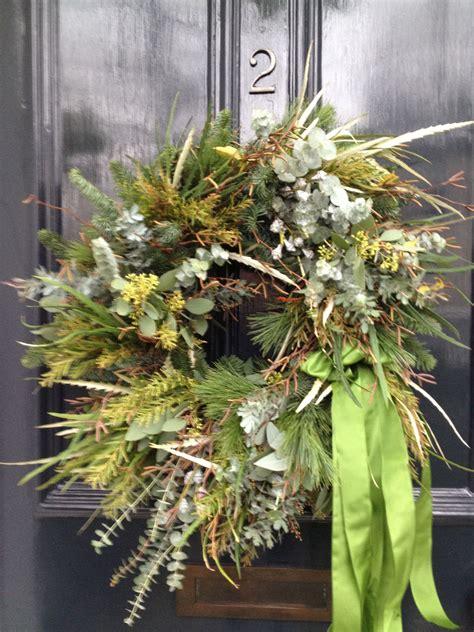 hand tied wreath   front door  love   loose